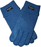 EEM ladies knitted glove JETTE with Thinsulate thermal lining, warm, 100% wool, winter, light blue L