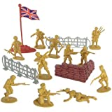 Billy V 41051 WWII - British Infantry Plastic Army Men: 38 piece set of 54mm Soldier Figures with Accessories - 1:32