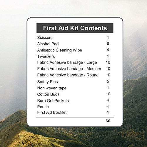 First Aid Kit – 66 Pieces – Small and Light Bag - Packed with Medical ... - 51NkleAe98L