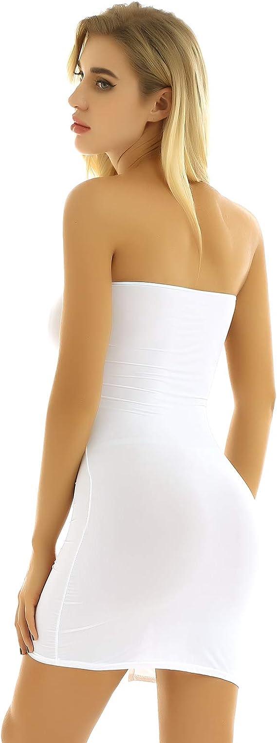 Da Donna Sensuale Vestito aderente discoteca sera Cintura Elastico Party Mini Dress Size 8 10
