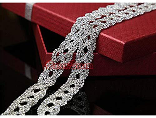 Individual Crystal - QueenDream Manufactoring Price Rhinestone Applique 1 Yard,Individual Crystal Applique,Pearl Bridal Belt Applique Crystal Trim
