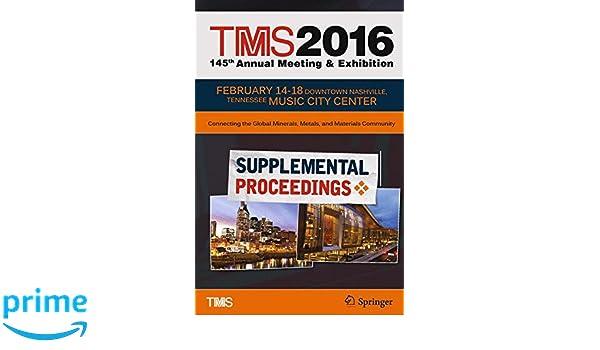 Alle artikelen van The Minerals, Metals & Materials Society TMS