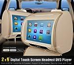"""XTRONS Beige 2X 9"""" Car Headrest DVD P..."""