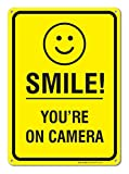 Smile You're on Camera Video Surveillance Sign 10 X 14 Rust Free .40 Aluminum