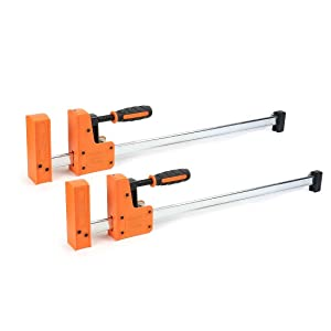 Jorgensen Cabinet Master 24-inch 90° Parallel Jaw Bar Clamp, 2-Pack