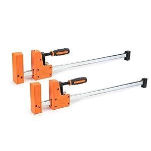 Jorgensen Cabinet Master 24-inch 90° Parallel Jaw Bar Clamp 2-Pack