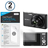 Sony Cybershot DSC-W830 Screen Protector, BoxWave [ClearTouch Crystal (2-Pack)] HD Film Skin - Shields From Scratches for Sony Cybershot DSC-W830