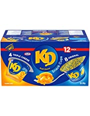 Kraft Dinner Snack Cups Variety Pack, Original and Three Cheese Macaroni & Cheese, 58g Cups (Pack of 12)