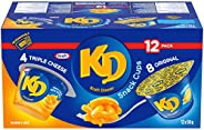 Kraft Dinner Snack Cups Variety Pack, Original and Three Cheese Macaroni & Cheese, 58g Cups (Pack of
