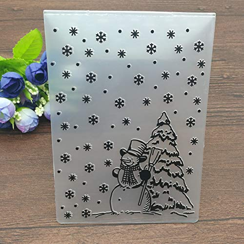 LooBooShop Christmas Embossing Folder DIY Card Papercraft Scrapbooking Decor Template Diary