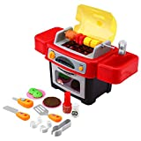 Outdoor Playset Peradix BBQ Grill Toy Kitchen Playset for Indoor Outdoor Role Pretend Play