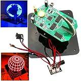 Solder Training Kit Soldering Training Kit - DIY Spherical Rotating LED Kit POV Sdering Training Kit ( Spherical Rotating Led)