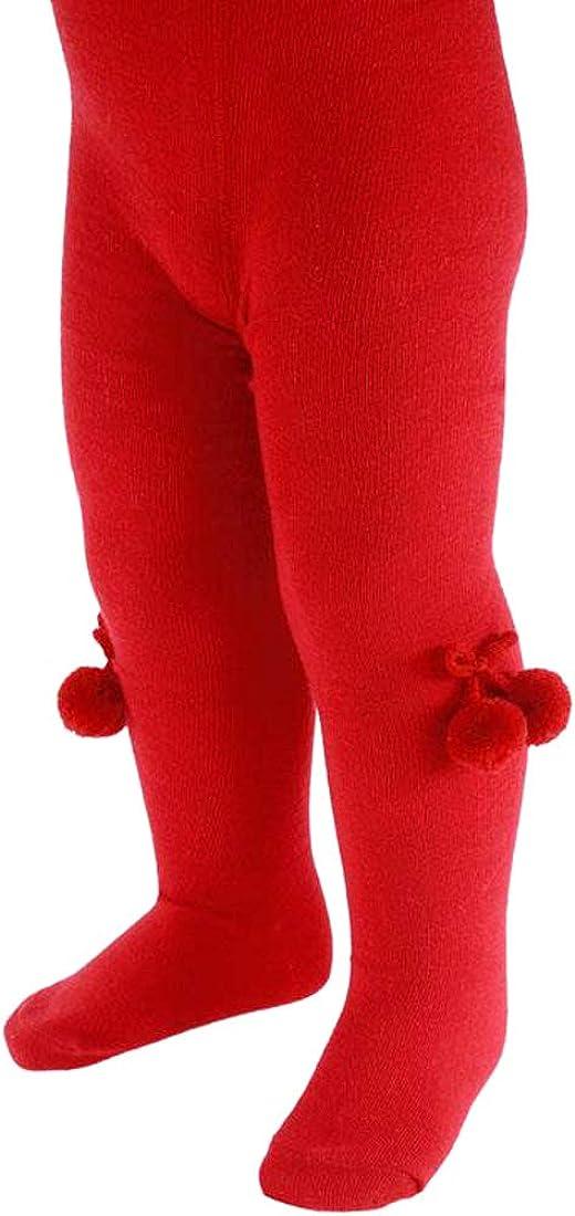 Collant per neonate con stampa a cuore con fiocco in fiocco con pompon in cotone ricco di leggings per neonati//24 mesi