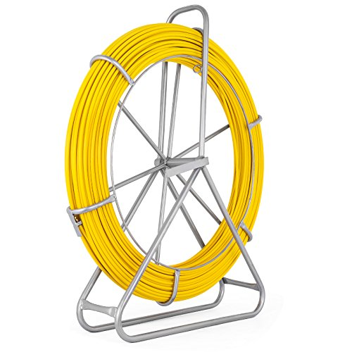 VEVOR Fish Tape Fiberglass 8MM 492FT Duct Rodder Fish Tape Continuous Fiberglass Tape Wire Cable Running with Cage and Wheel Stand by VEVOR (Image #3)
