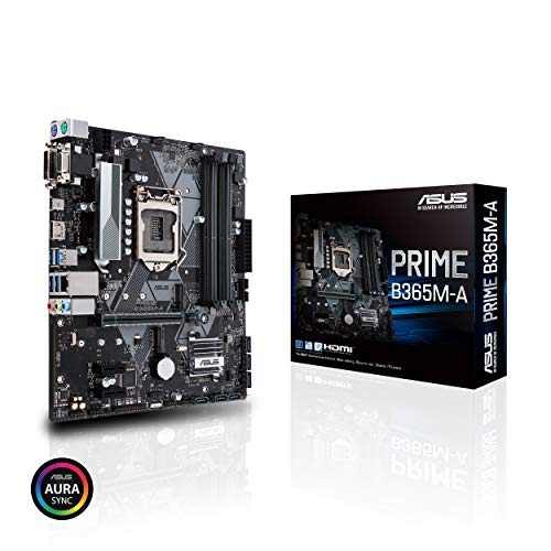 Asus Prime B365M-A LGA-1151 Support 9th/8th Gen Intel Processor with Aura Sync RGB Header, DDR4 2666MHz, M.2 Support, HDMI, SATA 6Gbps mATX Motherboard