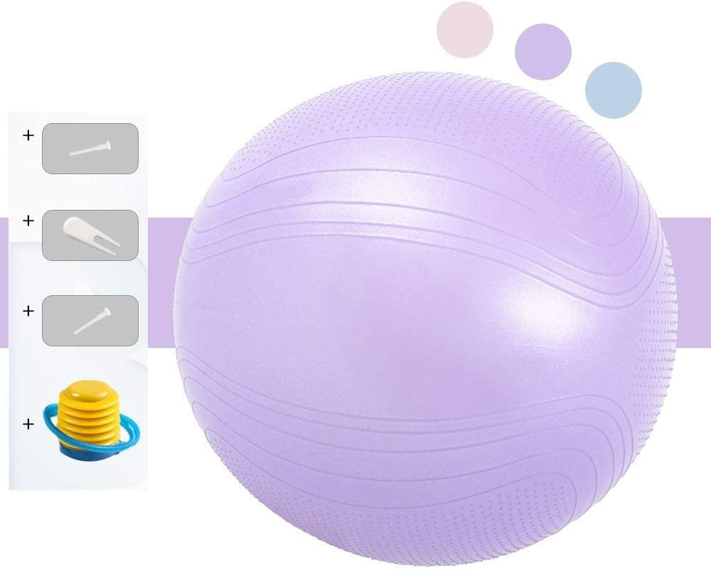 Amazon Com Mqss Birthing Ball Pregnancy Labor And Delivery Exercise Yoga Ball Stability Anti Slip Balance Ball For Training Yoga Workoutpurple 65cm Home Kitchen