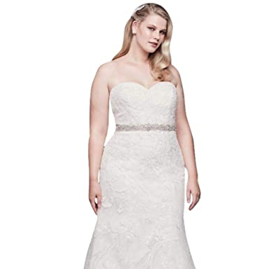 Beaded Lace Plus Size Tulle Mermaid Wedding Dress Style 9SWG810 at ...