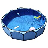 Petsfit Portable Outdoor Pool for Small to Medium Dog up to 50 Pounds, No Air and Assemble Needed