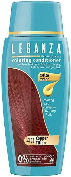 Leganza, 7 aceites naturales, bálsamo para el pelo de color cobre rojizo 40