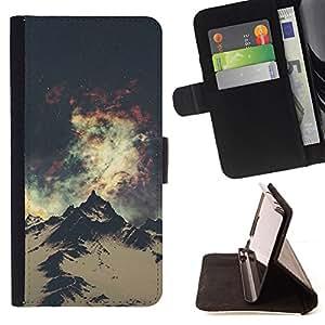 HIKING ANDES ALASKA NIGHT MOUNTAIN SPACE/ Personalizada del estilo del dise???¡Ào de la PU Caso de encargo del cuero del tir????n del soporte d - Cao - For Samsung Galaxy S5 Mini, SM-G800