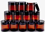 4oz glass jar with lid - Vivaplex, 12, Amber, 4 oz, Round Glass Jars, with Inner Liners and black Lids