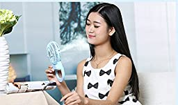 Idani O2 Misting Fan Mini Portable Handheld Outdoor Personal Cooling Mister System Humidifier USB Rechargeable(Blue)