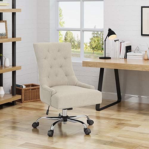 Christopher Knight Home 304969 Bagnold Desk Chair, Wheat + Chrome