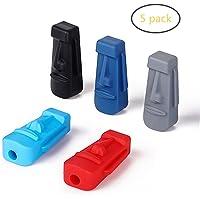Bleistift Topper, Dsaren Silikon Stift Kappe Chewy Tubes BPA Free Therapie Spielzeug Oral Motor zum Autismus ADHS Special Needs, 5 Stück (5 Stck)