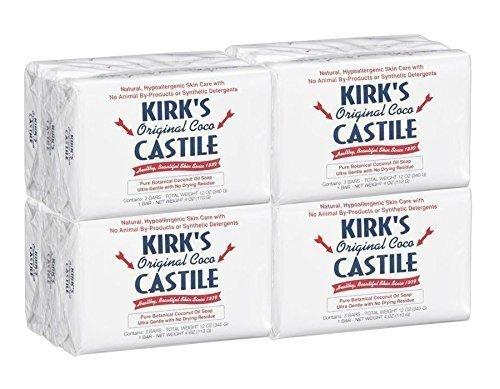 Kirk's Original Coco Castile Soap 4 Ounces (12 (Original Coco Castile Soap)