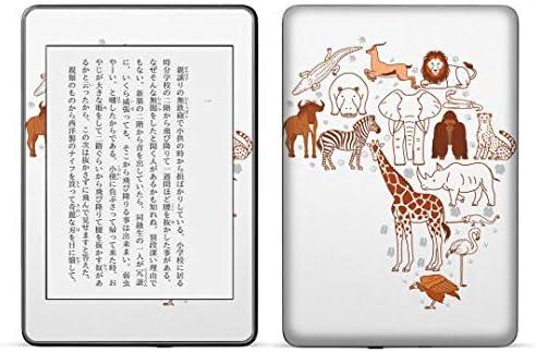 igsticker kindle paperwhite 第4世代 専用スキンシール キンドル ペーパーホワイト タブレット 電子書籍 裏表2枚セット カバー 保護 フィルム ステッカー 016062 動物 アフリカ 像 きりん