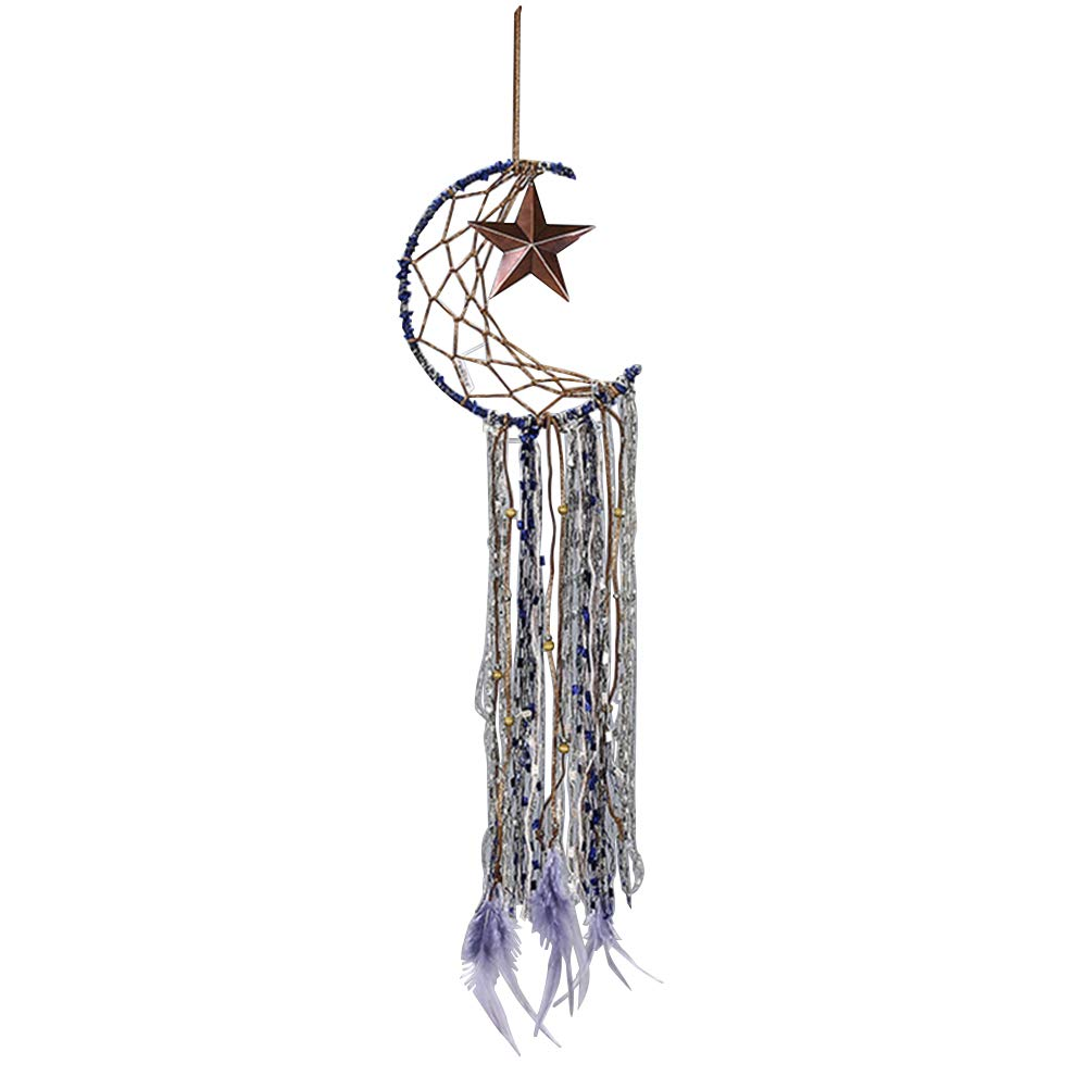 Vosarea Dreamcatchers Luna Forma Dream Catcher tapicer/ía Pared Adorno para la casa decoraci/ón de c/ámara