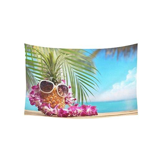 LMFshop Tapiz Sra. Piña en la Playa Tapices de Mesa Flor Colgante ...