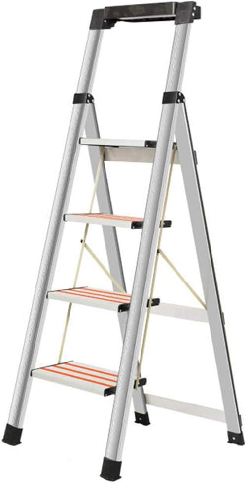 C-J-Xin Escalera del Dormitorio, Escalera de Metal Antideslizante de estantería Escalera portátil Plegable Escalera de la Sala de Estar Tamaño 48 * 71 * 140 cm Escalera de casa: Amazon.es: Hogar