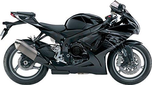 (9FastMoto Motorcycle Decals Sticker for suzuki 11-16 GSX-R600 GSX-R750 K11 2011 2012 2013 2014 2015 2016 Motorbike Racing Fairing Decal (Black & Silver))