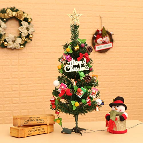 guojia 2ft desktop christmas tree suit diy pre lit tabletop artifical christmas tree decoration for kids