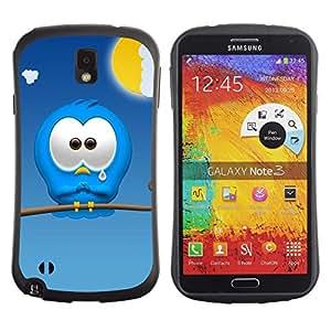 Suave TPU GEL Carcasa Funda Silicona Blando Estuche Caso de protección (para) Samsung Note 3 / CECELL Phone case / / Sad Cartoon Character Blue Monster Cute Art /