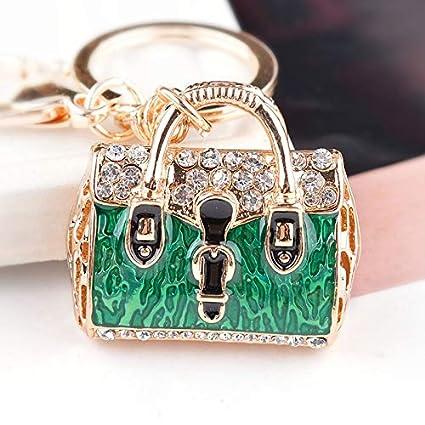 Encantadora Señora Mujeres Llavero Llavero Golden Bag Patrón ...