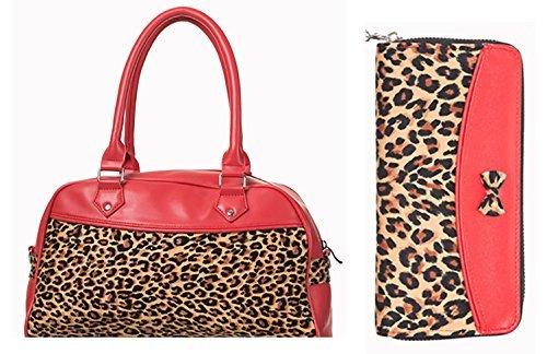 Banned Leo &-Borsetta a portafoglio, colore: rosso