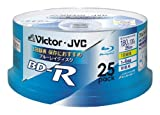 25 JVC Bluray Discs Bd-r 25 Gb 4x Speed Blank Surface Printable Hd Blue Ray Blank Media