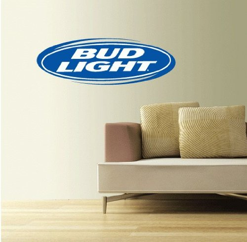 """Bud Light Set of 2 Beer Wall Decal Sticker 25"""" x 8"""""""