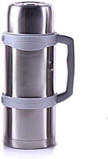 SHKRRB ステンレス鋼の絶縁コーヒー魔法瓶、24時間のテスト断熱材、水や飲料ディスペンサー、2.5リットルのスチール色の断熱ポット (Color : Steel color, Size : 1.6L)