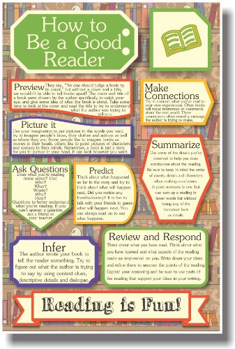 Reader Poster (Reminders for Readers - NEW Classroom Reading Poster)