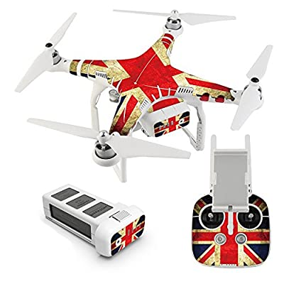 AWINNER® Exclusive Decoration Wrap Skin Water-resistant 3M Sticker Decal Kit for DJI Phantom 3 Professional / Advanced Quadcopter Body and Remote Controller