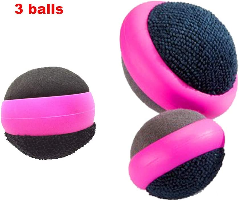 3 Pack Dual Action Touch Screen Glass Cleaner Cleaning Ball for iPad/Tablet/Smart Phone/Laptop/Computer/TV/Monitor Rose Red