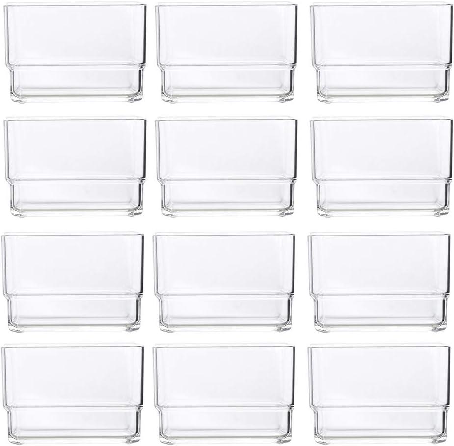 """Clear Plastic Drawer Organizers 12/"""" x 3/"""" x 2/"""" l Set of 6"""