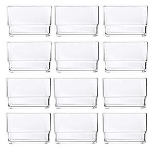 """STORi Clear Plastic Drawer Organizers 3"""" x 3"""" x 2"""" l Set of 12"""