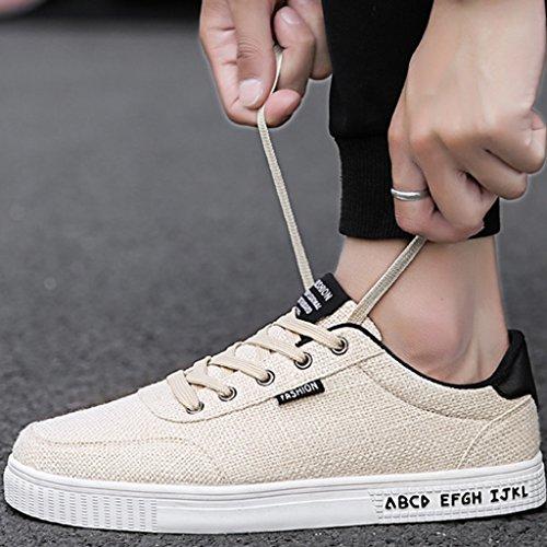 di selvaggia Black di YaNanHome scarpe uomo coreano tendenza da tela Size Color 40 di tela stile Scarpe basse scarpe traspirante Scarpe Black estive Espadrillas casual SOSfY