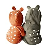 Deer Costume for Newborn - Misaky Infant Baby Boy Girl Deer Hooded Romper Outfits for 3-24 Months