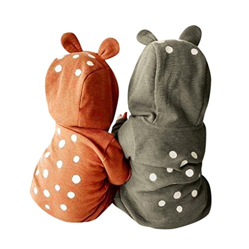 Newborn Elephant Halloween Costumes (Deer Costume for Newborn, Misaky Infant Baby Boy Girl Deer Hooded Romper Outfits for 3-24 Months (0-3M/Tag 60, brown))