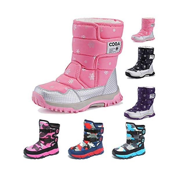 Kerrian Online Fashions 51Nkssi%2BwvL JACKSHIBO Girls Boys Outdoor Waterproof Winter Snow Boots(Toddler/Little Kid/Big Kid)